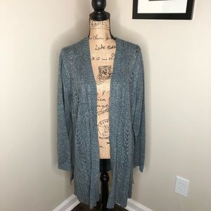 Karen Scott Blue Mirage Cardigan NEW!